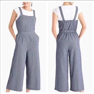 J.Crew Chambray Jumpsuit With Tie NWT US Women's Size: 0 2 14 4 12 10 8 6